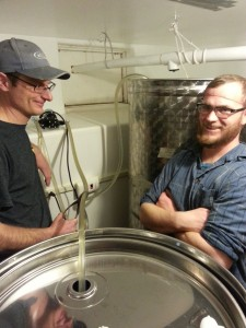 Matt and Nathan (Beard Net Guy) Blending Tanks